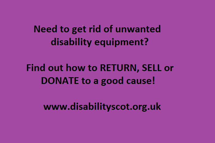 Unwanted disability equipment