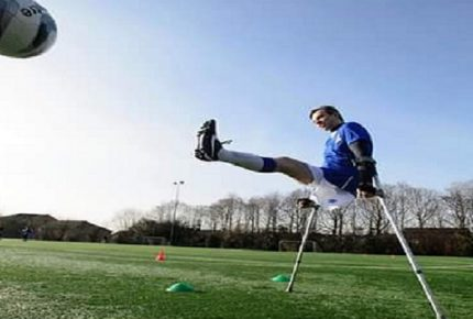 picture of an amputee footballer