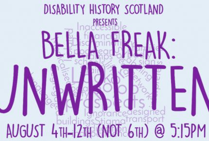 Bella Freak Unwritten image with dates. August 4th- 12th (not 6th)