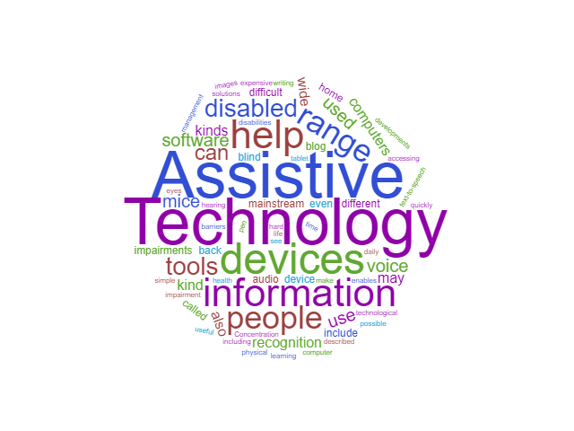 Assistive Technology – a general introduction to what's available