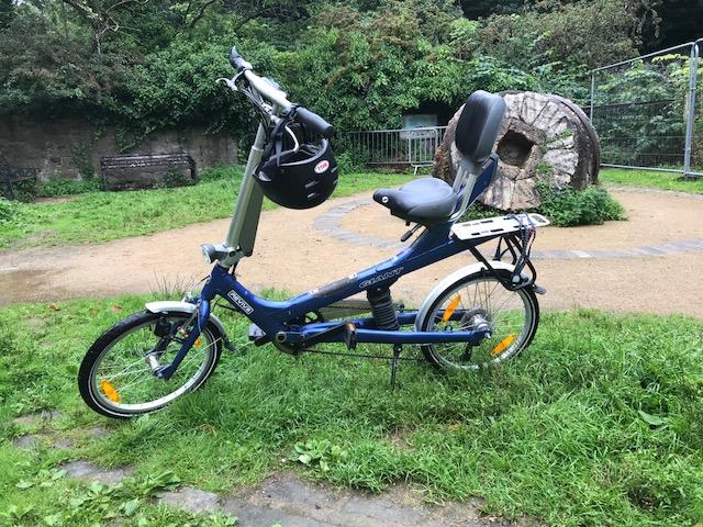 Image of semi recumbent bike.